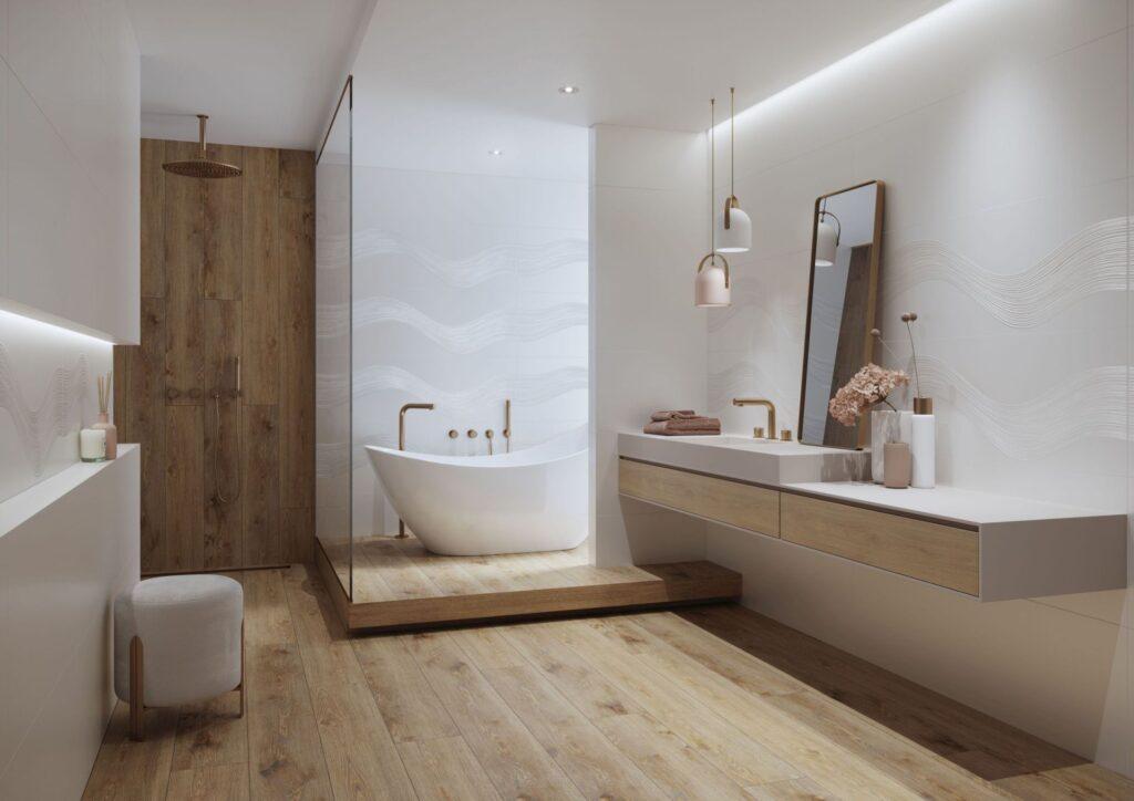 łazienka w zimowym nastroju