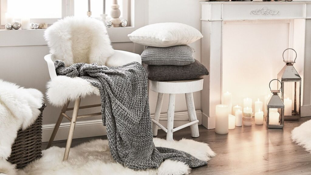 wnętrze w zimowym nastroju