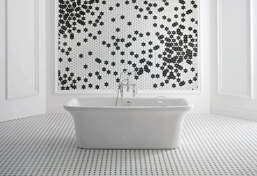łazienka w zimowym klimacie