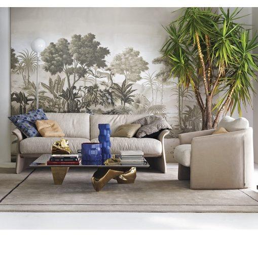 Jedwabna tapeta malowana ręcznie tradycyjnymi chińskimi technikami włoskiej marki Misha Wallpaper. www.mood-design.pl