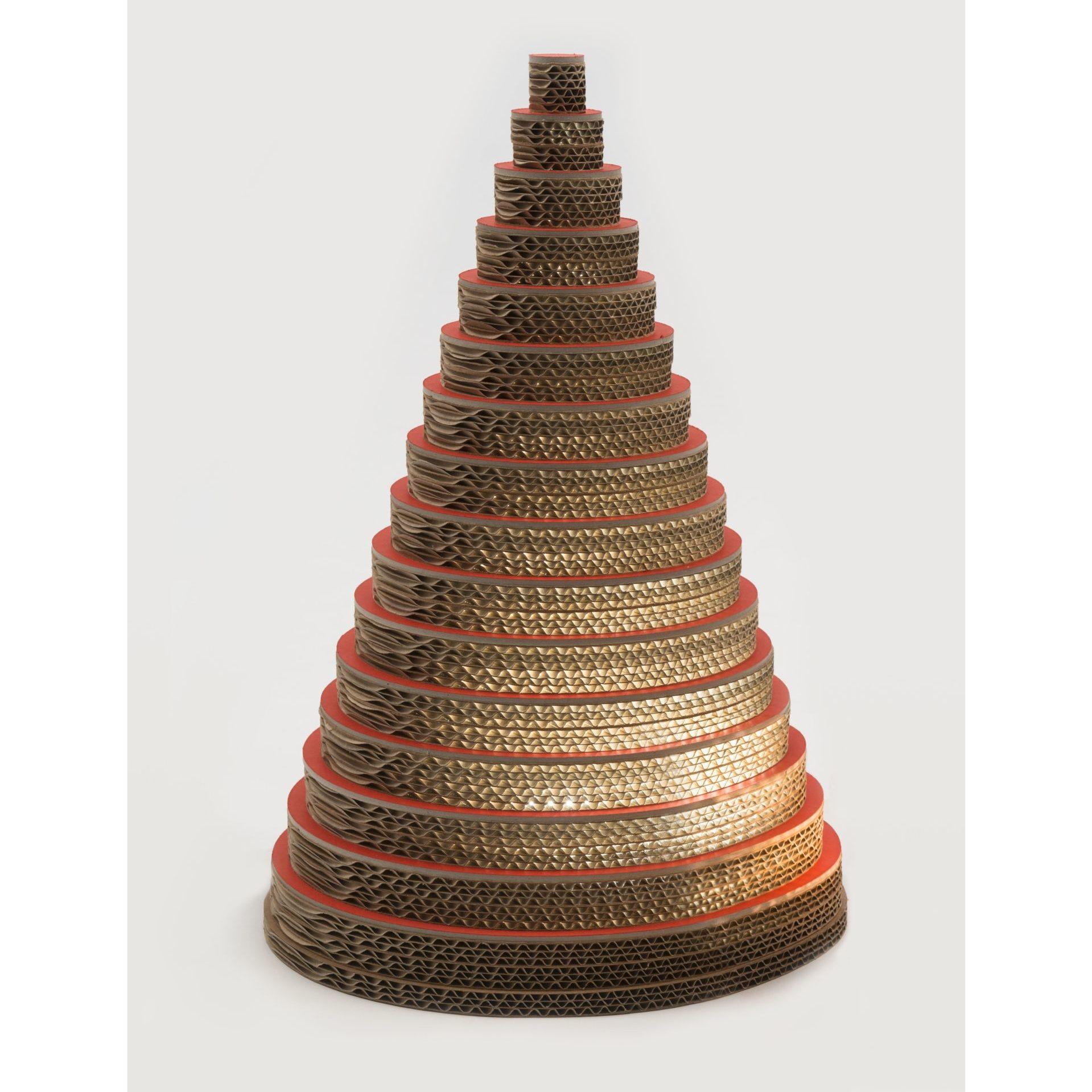 Podświetlana choinka wykonana z kartonu z recyklingu. Wysokość do 180 cm. www.lessmore.it
