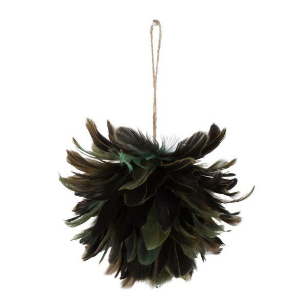 Dekoracja Loose Feathers wykonana z tworzywa sztucznego i naturalnych piór. Wysokość 8 cm. Cena 39,90 zł. www.westwing.pl