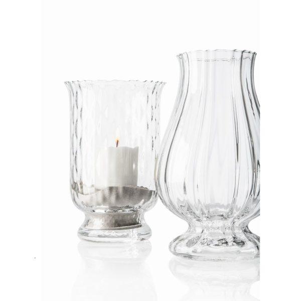 Lampiony z transparentnego szkła pochodzące z najnowszej kolekcji Hurricane. www.ivvnet.it