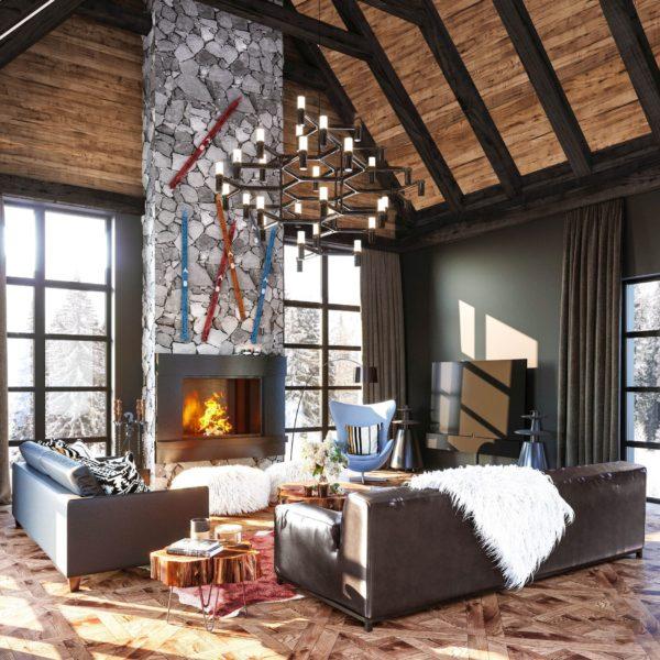 Futrzane dodatki np. w postaci pledów, tapicerki czy dywanu dodają wnętrzu przytulności. www. annakoszela.pl