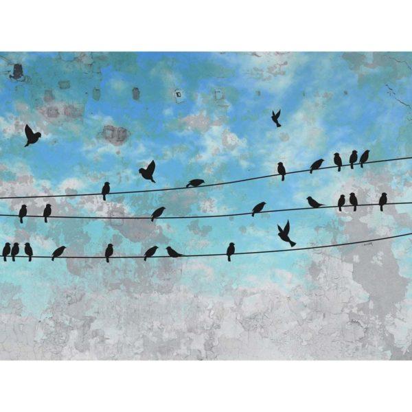 Tapeta Black Bird wykonana na zamówienie. www.instabilelab.it