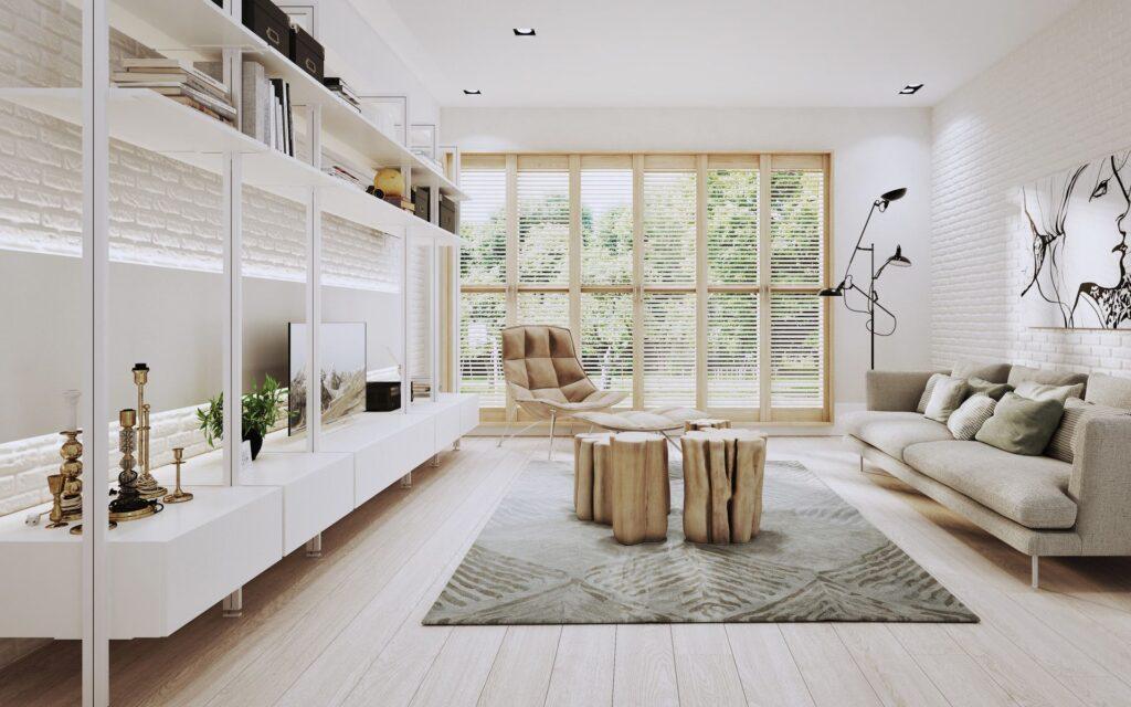 białe meble w domu