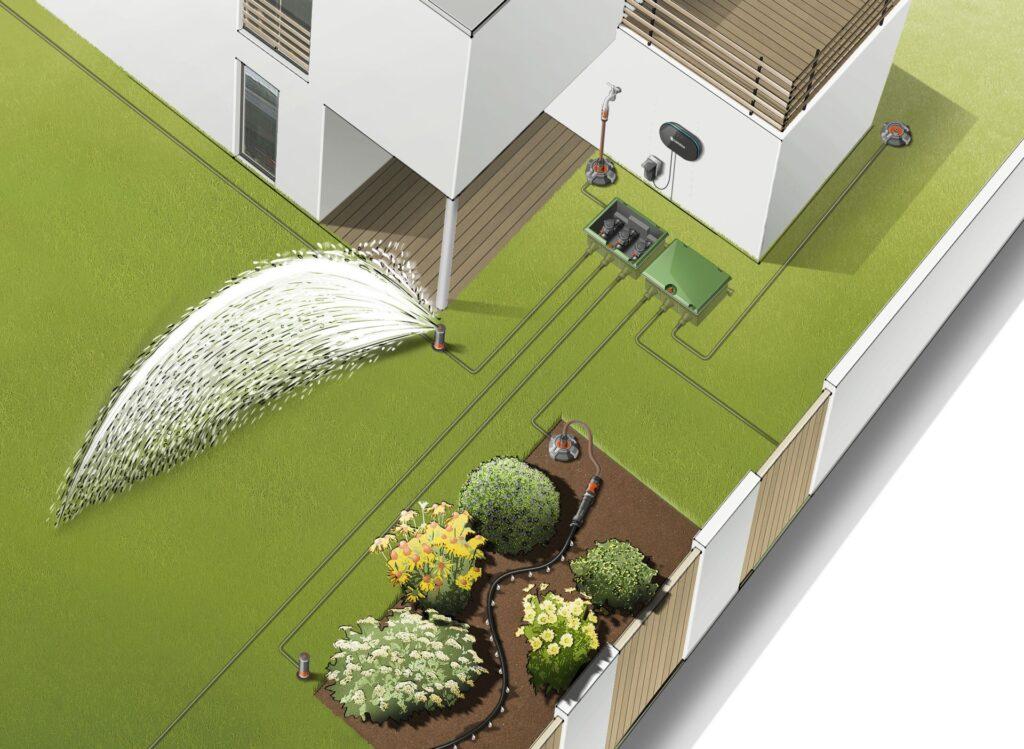podlewanie trawnika latem