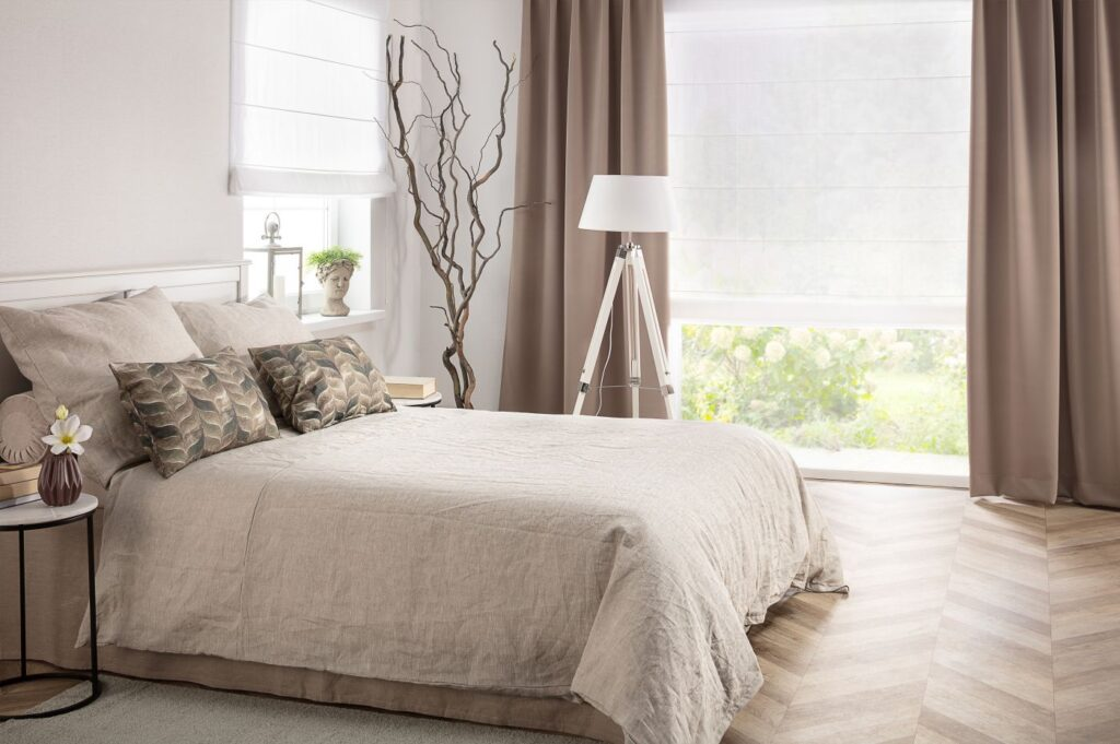 naturalne tkaniny w domu