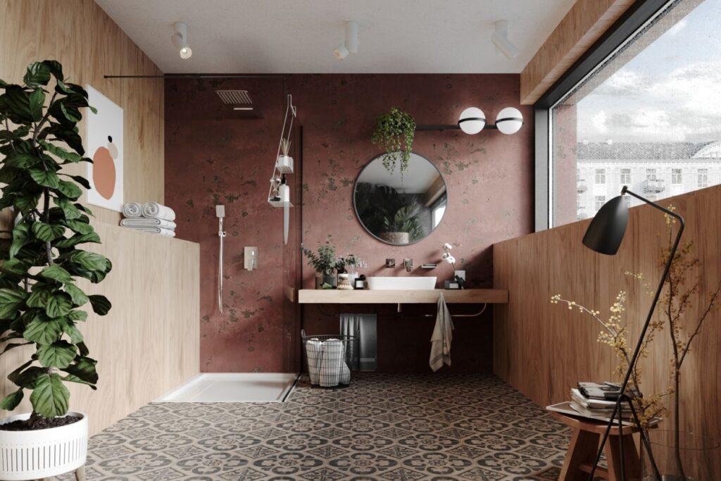 łazienka z duchem biophilic design